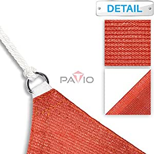 Patio Paradise 24' x 24' Red Sun Shade Sail Rectangle Canopy - Permeable UV Block Fabric Durable Patio Outdoor - Customized Available