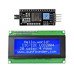 Introduction This is a high-quality I2C LCD 2004 display. It's in elegant blue with white contents displayed. It can display 4 rows with 20 characters for each. With IIC/I2C interface, it only takes two I/O port thus saving more for other usa...