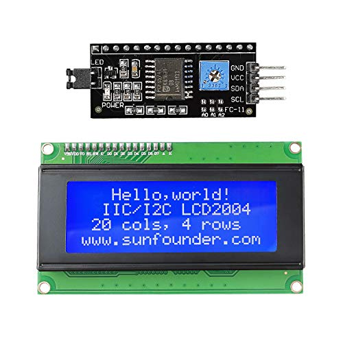 SunFounder IIC I2C TWI Serial 2004 20x4 LCD Module Shield for Arduino Uno Mega2560 ()