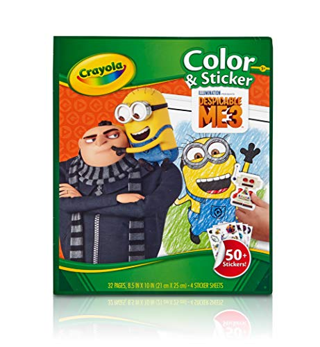 Crayola Despicable Me Color & Sticker Book, Gift for Kids, Age 3, 4, 5, 6 Styles may vary]()