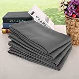 Deconovo Rod Pocket Curtains Solid Thermal Insulated Drapes and Curtains Blackout Shades for Bedroom 52Wx63L Inch Dark Grey 4 Drapes Review