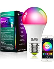 Alexa Compatible Smart Light Bulb with Remote, Vanance A19 E27 10W 800LM WiFi & Bluetooth Dimmable White and Color Changing LED Smart Bulb No Hub Required, Works with Alexa Google Home