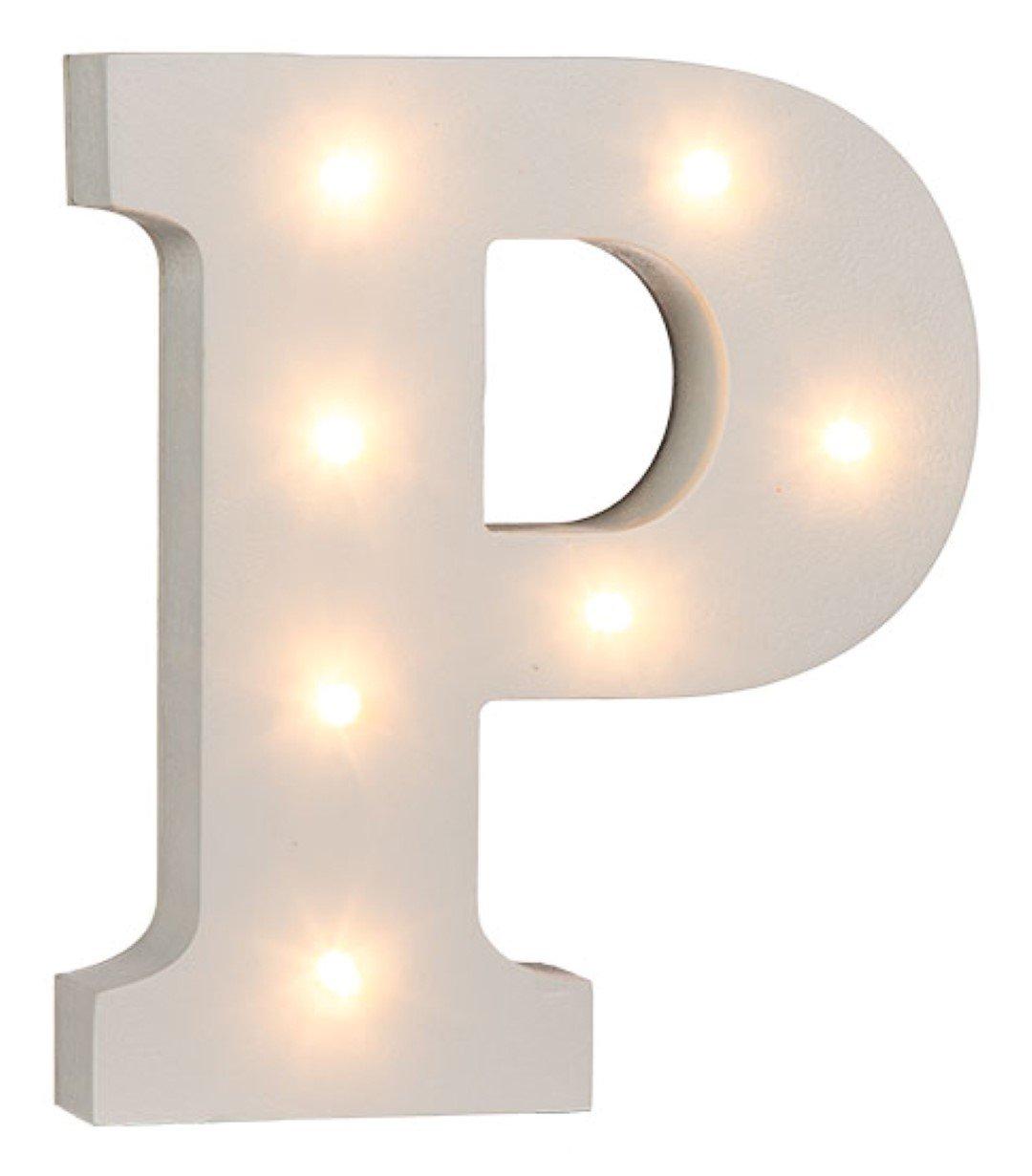 das komplette Alphabet holz 16/cm Beleuchtete Buchstaben und Zahlen/aus wei/ßem Holz 16 cm Letter H