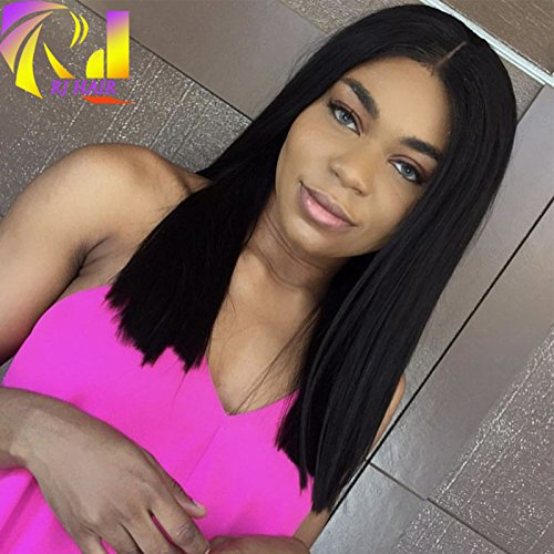 RJ HAIR 150 Density Short Bob Human Hair Lace Wigs Rihanna Bob Full Lace Wig Virgin Brazilian Human Hair Bob Cut Wig