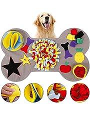 L&P Snuffeltapijt hond botvorm interactief educatief speelgoed wasbaar snupermat ruiken training voor thuis, Sniffing Carpet zoekspel antislip voertapijt 90x55 cm