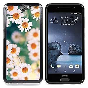 """For HTC One A9 Case , Margaritas Primavera Verano Blanco Amarillo"""" - Diseño Patrón Teléfono Caso Cubierta Case Bumper Duro Protección Case Cover Funda"""