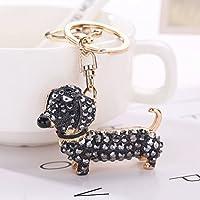 TOYMYTOY Llavero de animales Llavero lindos perro para bolso coche mochila colgante (Negro)