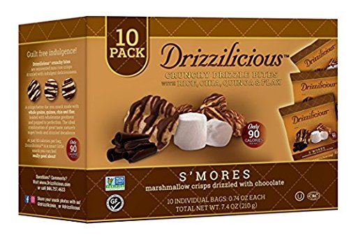 Drizzilicious S'Mores Crisp With Chocolate 10 Individual, 7.4 Oz. Pk Of 3.