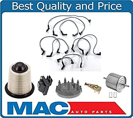 air gas filter spark plug ing  wires cap coil fits for 94-95 ford mustang  gt 5 0l, tune-up kits - amazon canada