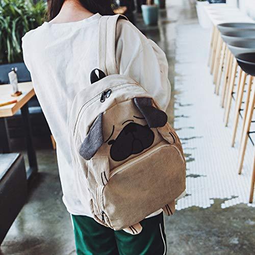 El De Ligero Capacidad Panadería Mira Popular Brown Peso Del Zack Escuela Bolso color Trasero Mochila La Houyazhan Moda Gray Zuck fRvqx