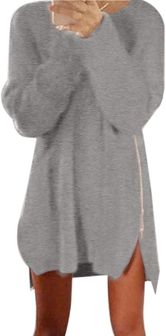 Pullover Kleid Damen Gjkk Mode Herbst Winter Damen Frauen Reißverschluss Pullover Minikleid Pullover Kleid Bekleidung