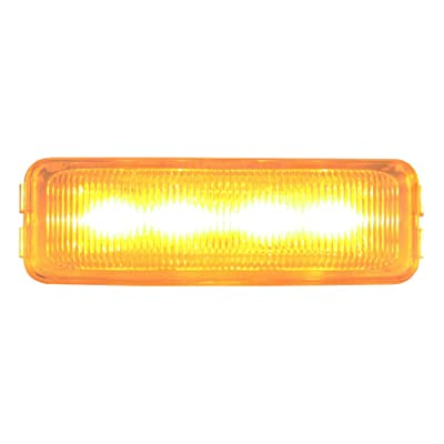 GG Grand General 84442 Medium Rect. Amber/Clear 4-LED Marker Light: Automotive