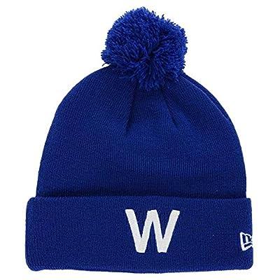 """Chicago Cubs New Era Knit Pom """"W"""" Beanie"""
