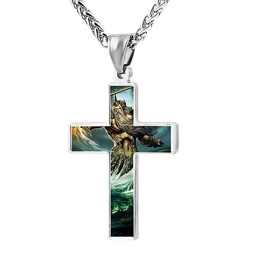 Amazon cool patriotic cross poseidon religious lords zinc cool patriotic cross poseidon religious lords zinc jewelry pendant necklace aloadofball Choice Image