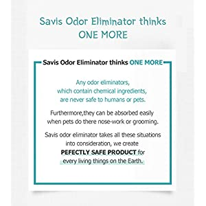 Savis Organic Fermentation EM Odor Eliminator Spray (16.9 oz.) Pure, Natural Air Freshener | Mask Dogs, Cats, Sweat, Clothes, Urine, Foot, Smoke | Active EM Formulation | Child and Pet Safe