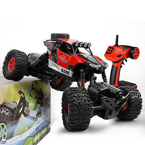 Gizmovine RC Cars 4WD Rock Crawler Large Size Boys Remote Control Cars and Trucks 2.4Ghz Transformer Toy Electronic Monster Truck R/C Off Road for Kids and Adults , 2019 Update Version (Red) (Best 1 18 Rc Truck 2019)