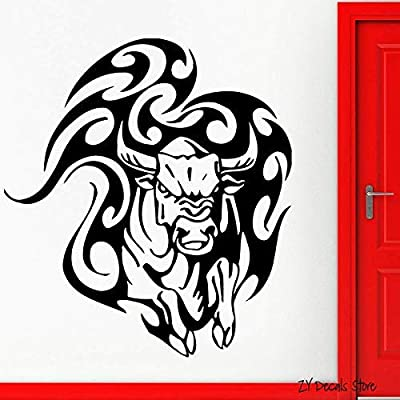 YHEGV 56X59 CM Bull Pegatinas de Pared Animal Taurina Tatuaje ...