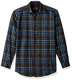 Pendleton Men's Long Sleeve Button Front Classic-Fit Trail Shirt, Brown/Green Plaid-31958, LG