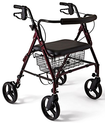 medline Stronger & Wider Than Most Rollator Walkers, This...