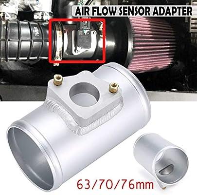 1x 76mm Aluminum Air Flow Sensor Adapter Fit For TOYOTA MAZDA 3 6 SUBARU SUZUKI