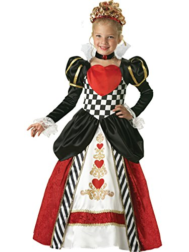 InCharacter Costumes Girls Queen of Hearts Costume, Black/Red, 8 -