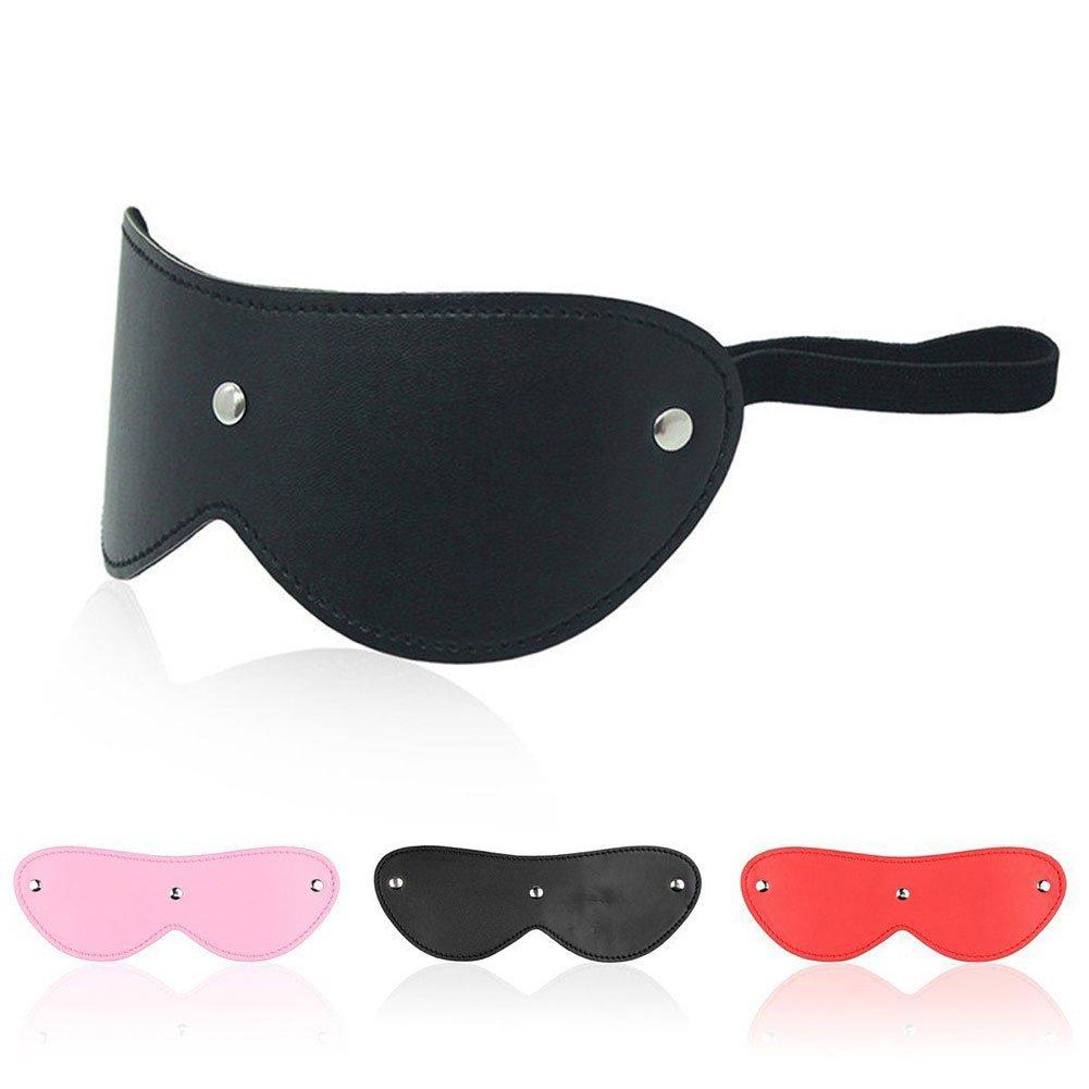 Goooolife Lady Leather Eye Mask Blinder con Los Ojos Toy Vendados Women Nightwear Toy Ojos (Juego De Tres Colores) f40a60