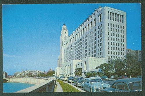 1950 Postcard - Riverside Drive Columbus Ohio State Building 1950s Cars Vintage Postcard