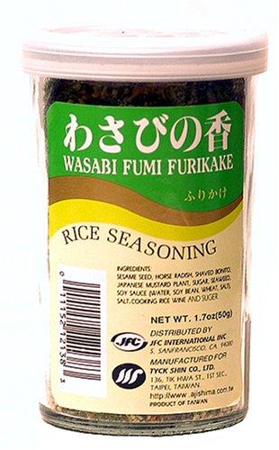 JFC Wasabi Fumi Furikake Rice Seasoning, 1.7-Ounce Jars (Pack of 4)