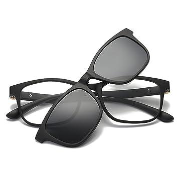 QQBL TR90 Glasses Frame Myopia Set Espejo Absorbente Tipo Magnético Color Brillante TAC Gafas Polarizadas UV400