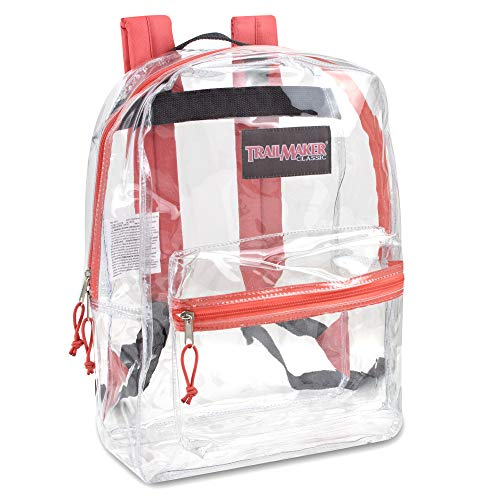 Clear Backpack Reinforced Straps