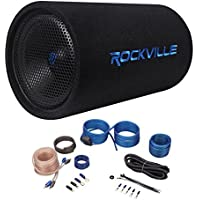 Rockville RTB12A 12 600w Powered Subwoofer Bass Tube + Bass Remote+Amp Kit
