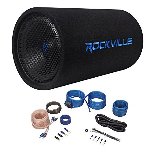 "Rockville RTB12A 12"" 600w Powered Subwoofer Bass Tube + Bass"
