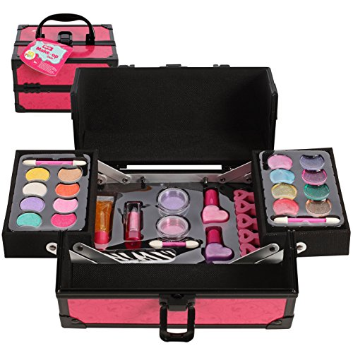 Girls Makeup set, with Two Tiered Long Lasting Case by IQ Toys