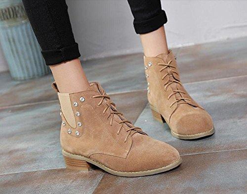 Decorazione di breve stivali Chelsea Martin diamante donna Stivali alla caviglia scarpe , khaki , 38