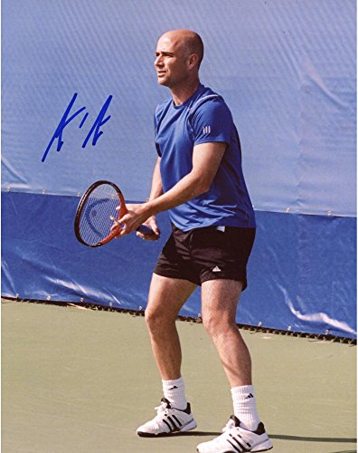 "Andre Agassi Autographed 8"" x 10"" Blue Shirt Photograph - Fanatics Authentic Certified - Tennis Autographed Miscellaneous Items"