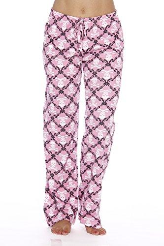 (6324-10050-2X Just Love Women Pajama Pants / Sleepwear, Skulls Pink, 2X Plus)