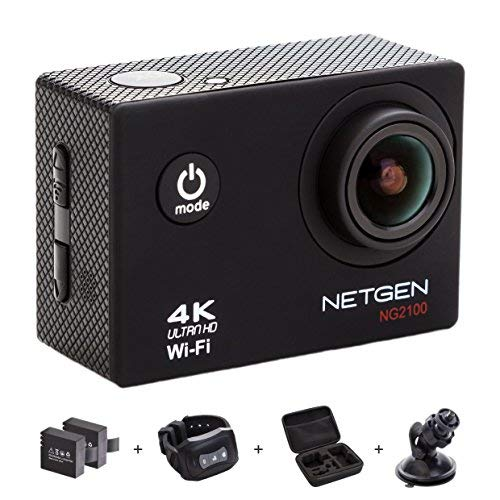 NETGEN Action Camera 16 MP 4k WiFi Ultra HD Waterproof with