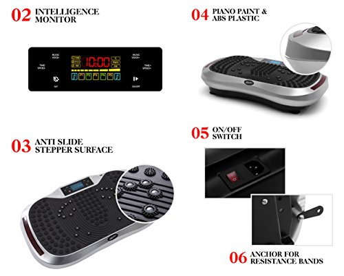 Vibration Platform Plate Whole Body Massager Machine Slim Exercise Fitness with Bluetooth MP3