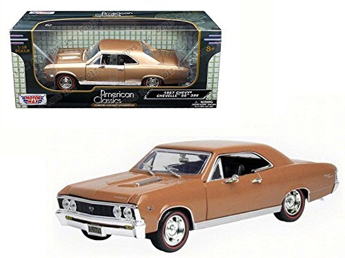 1:18 AMERICAN CLASSICS - 1967 CHEVROLET CHEVELLE SS 396 73104AC-GLDBRN BY MOTOR MAX ()