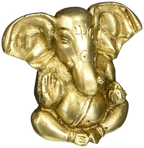 Triloka - Ganesh Statue Recycled Brass - 1.75 in. (Recycled Statues)