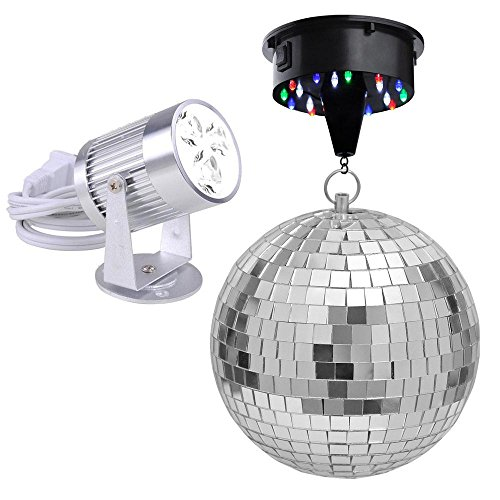 Mirror Disco Rotating Pinspot Spotlight