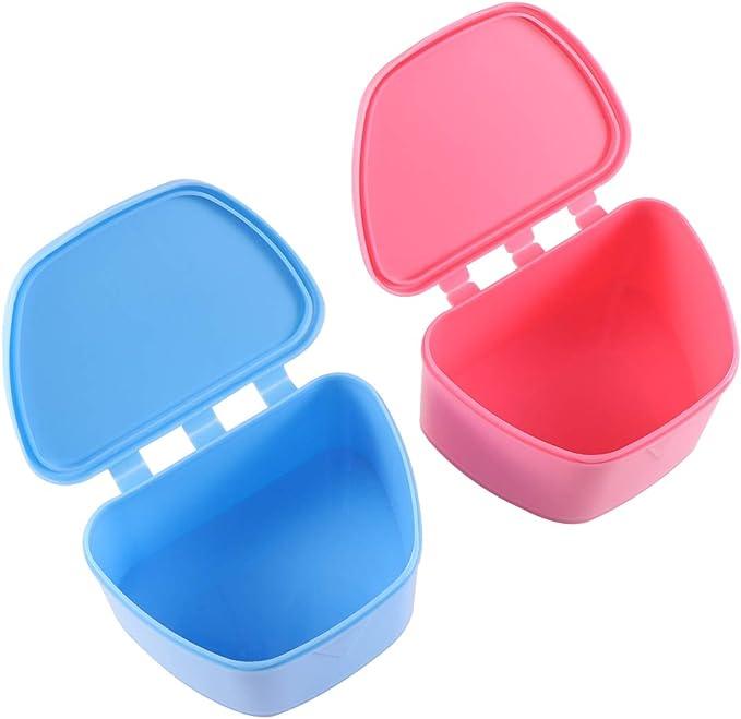 SUPVOX 2 Piezas Caja de Dentadura Protector Almacenamiento para Dentaduras Protesis Dental: Amazon.es: Salud y cuidado personal