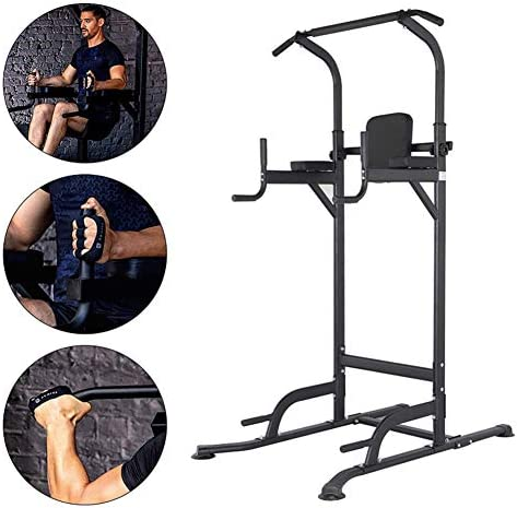 多機能トレーニング機器ホーム屋内ジム筋力トレーニング筋力タワートレーニング調整可能な高さフィットネスエクササイズステーション、筋力トレーニング液浸スタンド