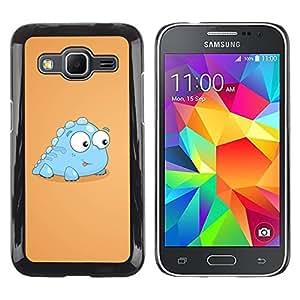 Paccase / SLIM PC / Aliminium Casa Carcasa Funda Case Cover para - Funny Baby Dinosaur - Samsung Galaxy Core Prime SM-G360