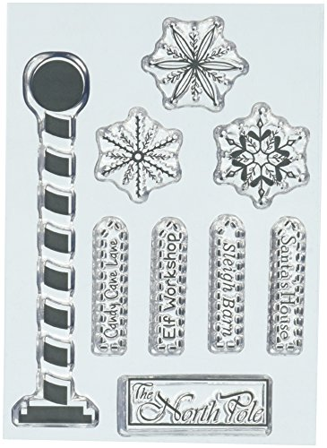 Penny Black Series Clear Stamp Set 30-446 North Pole - North Pole Rubber