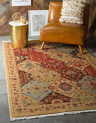 Unique Loom Edinburgh Collection Oriental Traditional French Country Tan Area Rug 5 0 x 8 0