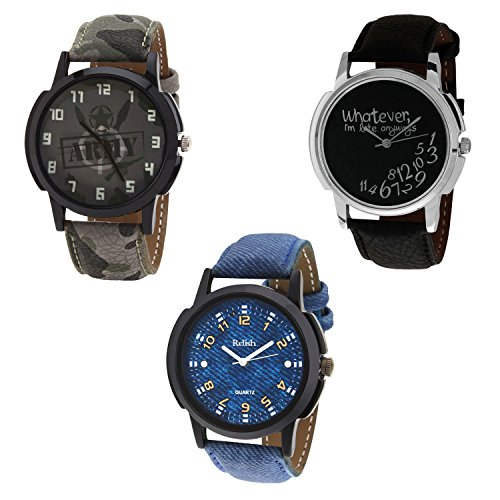 Relish Casual Analog Multicolour Dial Wrist Watch for Men Combo...