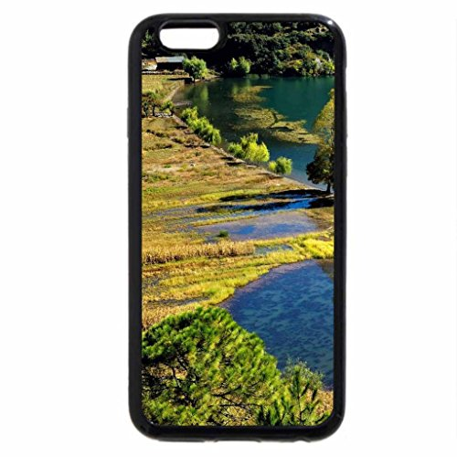 iPhone 6S / iPhone 6 Case (Black) farms by a lake shore