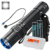 Olight M2R Warrior 1500 Lumen Magnetic USB Rechargeable LED Compact Tactical Flashlight, 2 x 3500mAh Batteries, Lumen Tactical Battery Organizer (Cool White/Neutral White Options) (Cool White)