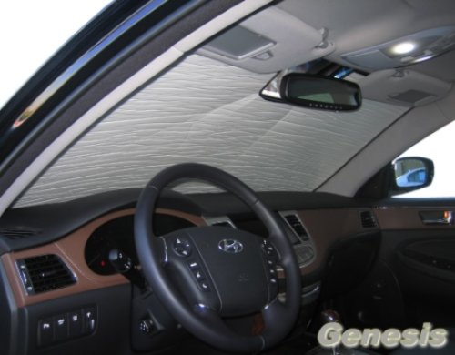 Sunshade compatible with Hyundai Genesis Sedan 2009 2010 2011 2012 2013 2014 HEATSHIELD Custom-fit Sunshade #062